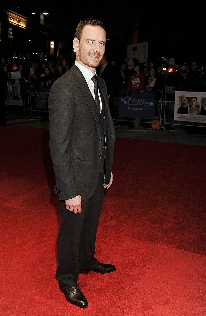 Michael Fassbender attended the London Film Festival premiere of A Dangerous Method.