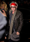 Keith Richards came out to support his friend.