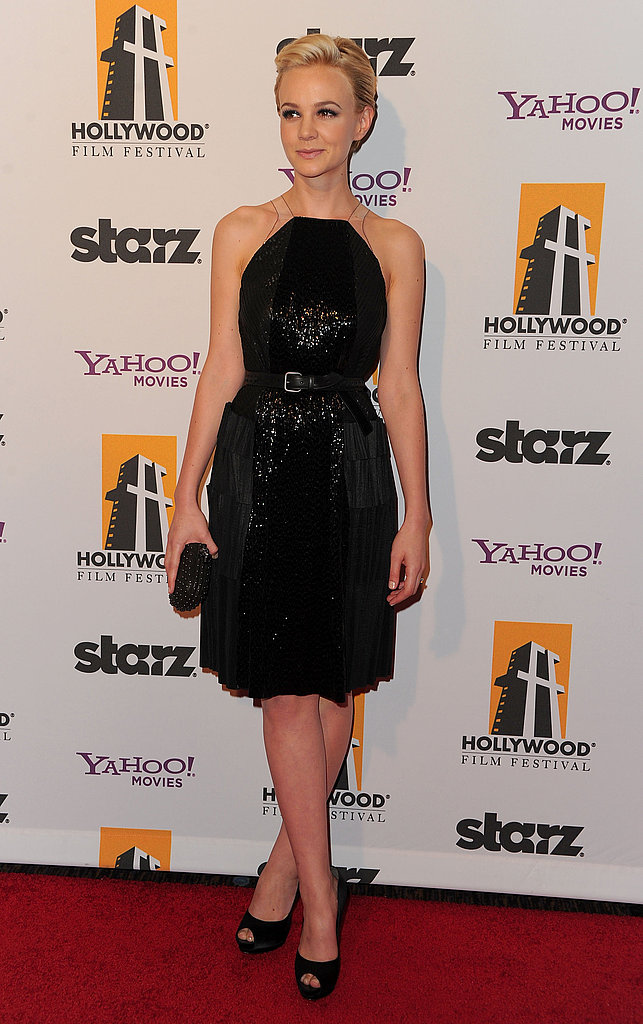 Carey Mulligan wore a shimmering dress to the Hollywood Film Awards.