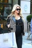 Jessica Simpson wore a leopard-print jacket in NYC.