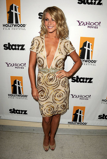 Julianne Hough posed for pictures backstage at the 15th Annual Hollywood Film Awards.