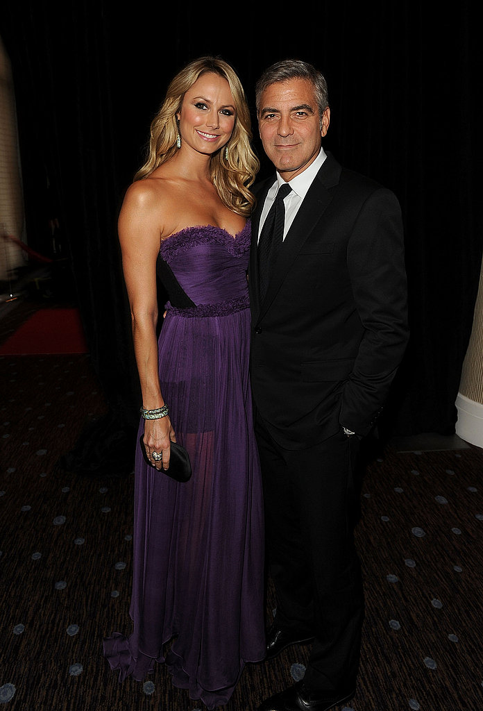 George Clooney and girlfriend Stacy Keibler at the Hollywood Film Awards.