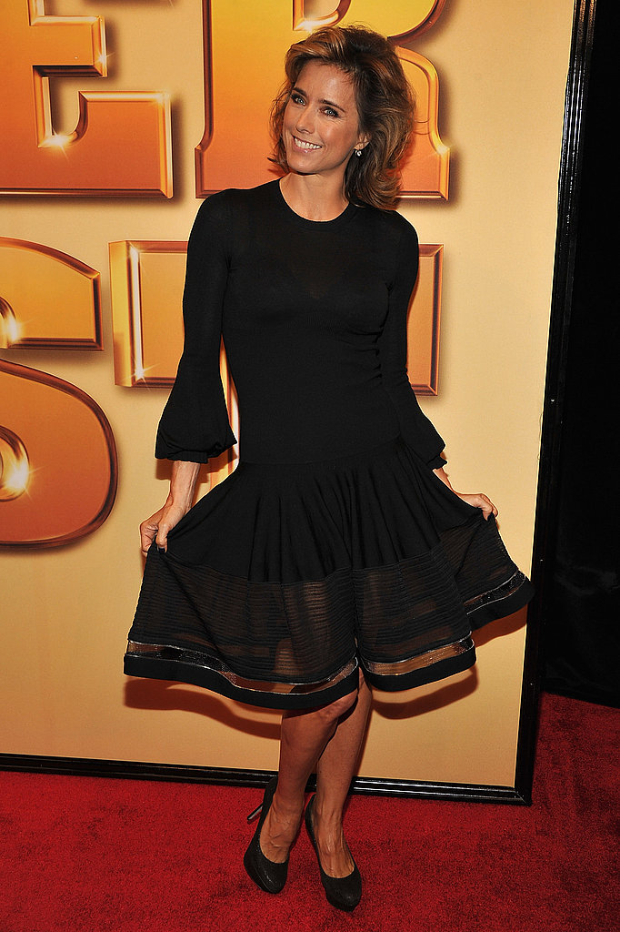 Tea Leoni showed off her knee length, black skirt.