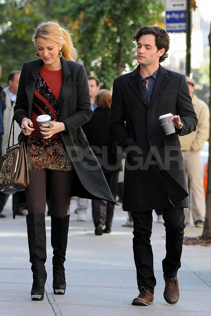 Blake Lively and Penn Badgley worked on Gossip Girl in NYC.