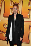 Doutzen Kroes slicked her hair back for the movie screening.