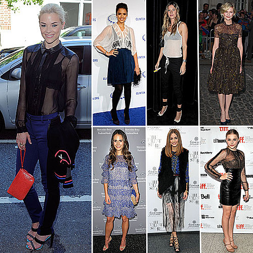 Seven Ways to Wear the Sheer Trend, like Olivia Palermo, Gisele Bundchen, Chloe Moretz, Jaime King and more!