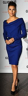 Eva Longoria in Blue Victoria Beckham Dress