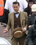 Tobey Maguire as Nick Carraway on the set of The Great Gatsby.