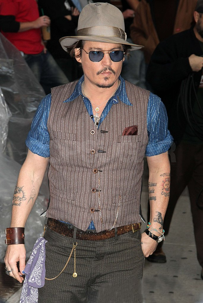 Johnny Depp stopped by David Letterman.