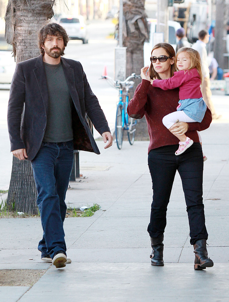Jennifer Garner and Ben Affleck with Seraphina.