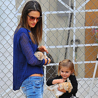 Alessandra Ambrosio at a Pumpkin Patch With Anja Pictures