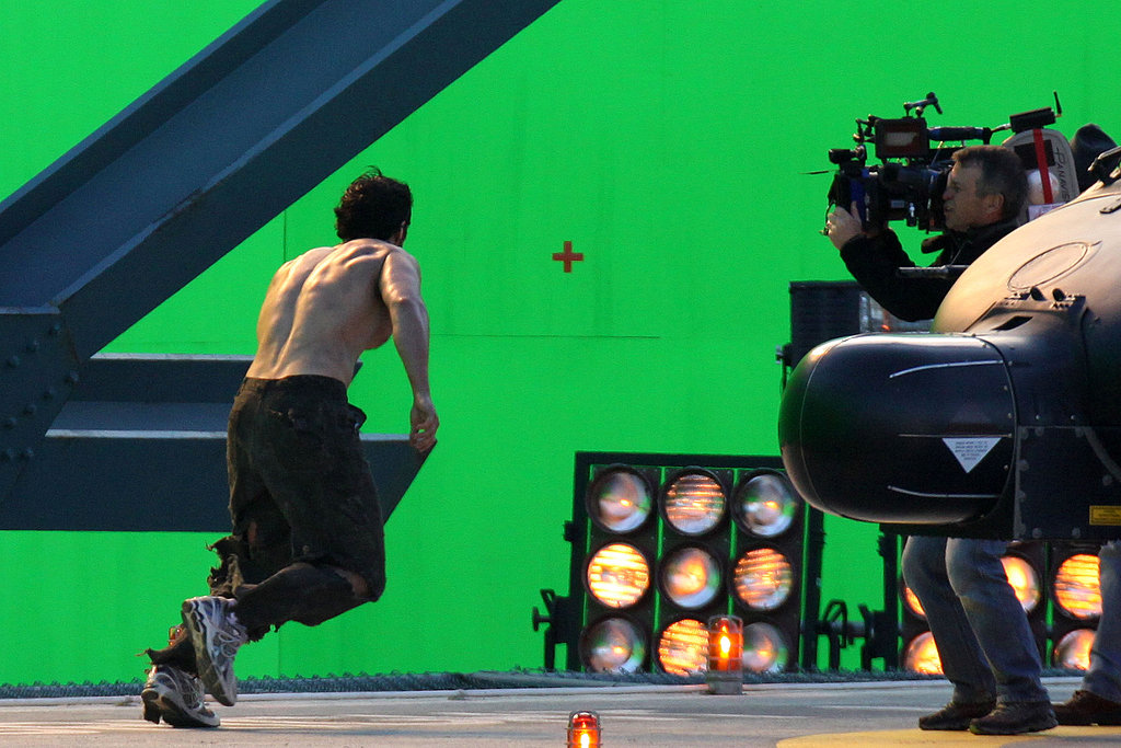 Henry Cavill ran on the set of Man of Steel.