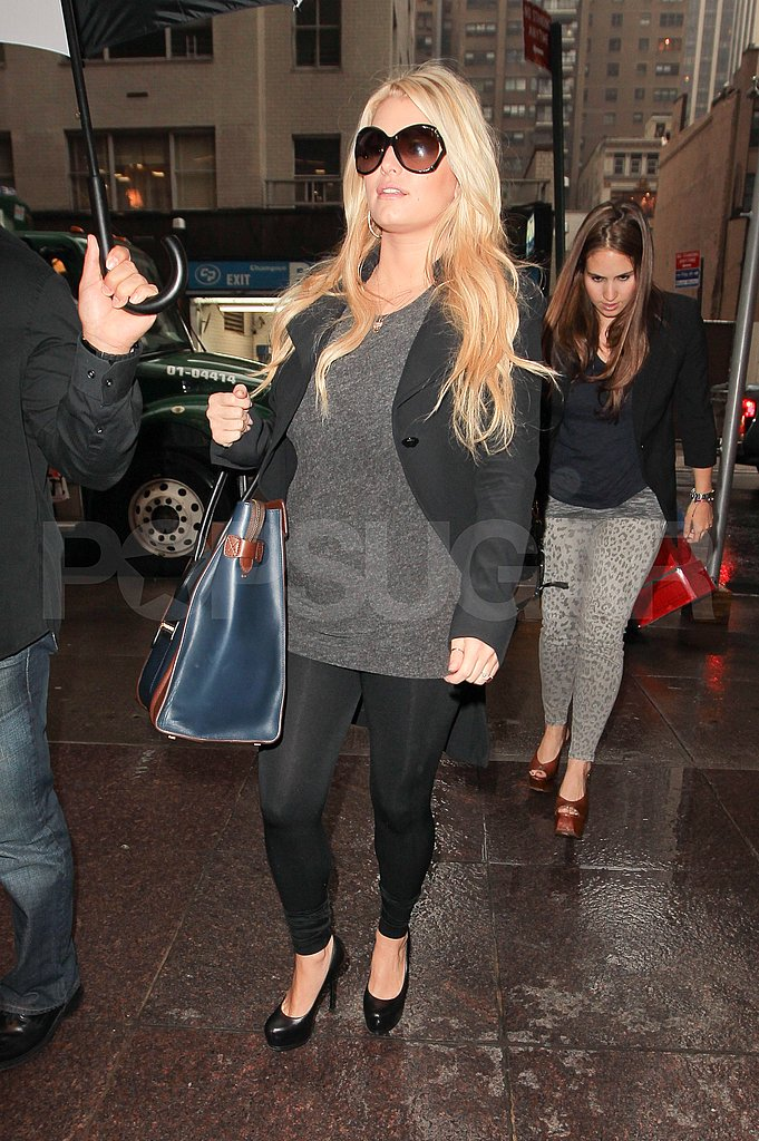Jessica Simpson looked pregnant in NYC.