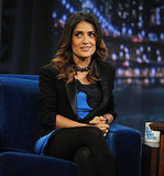 Salma Hayek is in NYC promoting Puss in Boots.