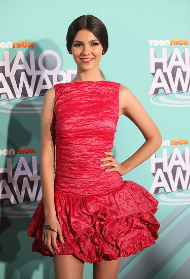 Victoria Justice wore a short and flirty dress.