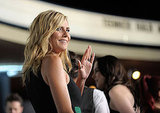 Heidi Klum waved to fans.