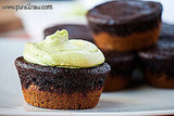 Pumpkin Brownie Cupcakes