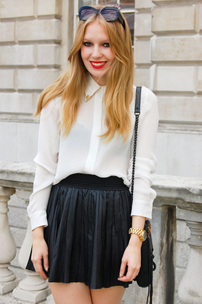 Short, sweet, and pleated at London Spring 2012 Fashion Week.  Shop the look:  Photo Courtesy of Stylesight