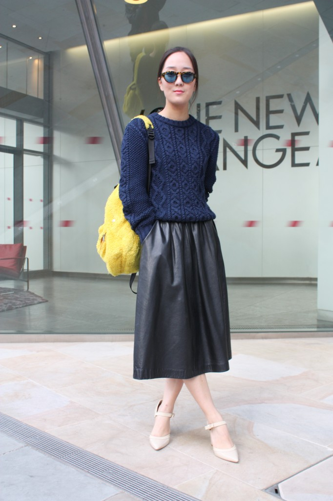 A tea-length version spotted in London over Spring 2012 Fashion Week. Shop the look: Photo Courtesy of Stylesight