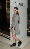 Hailee Steinfeld headed into a Chanel party in LA.