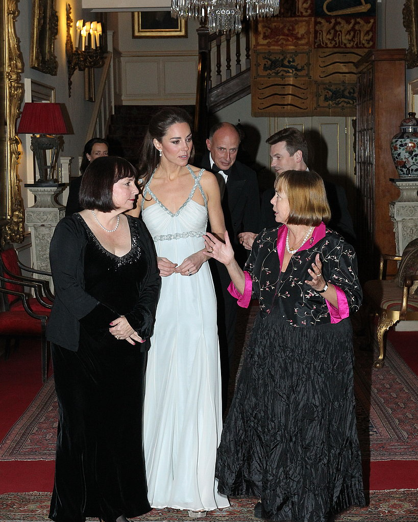 Kate walks and talks with guests at her first solo engagement.