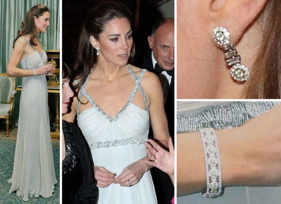Kate Middleton's Vintage Amanda Wakeley Gown, Up Close!