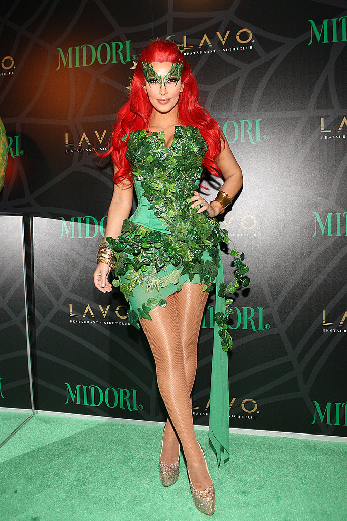 Poison Ivy Kim Kardashian looked sexy as the villainess.