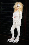 Pregnant Jessica Simpson in a mummy costume.