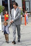 Matthew McConaughey and Levi looked equally adorable in their Sunday best while leaving an LA church in June 2011.