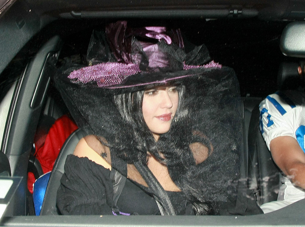 Jessica Alba got festive in a witch's costume in 2011.