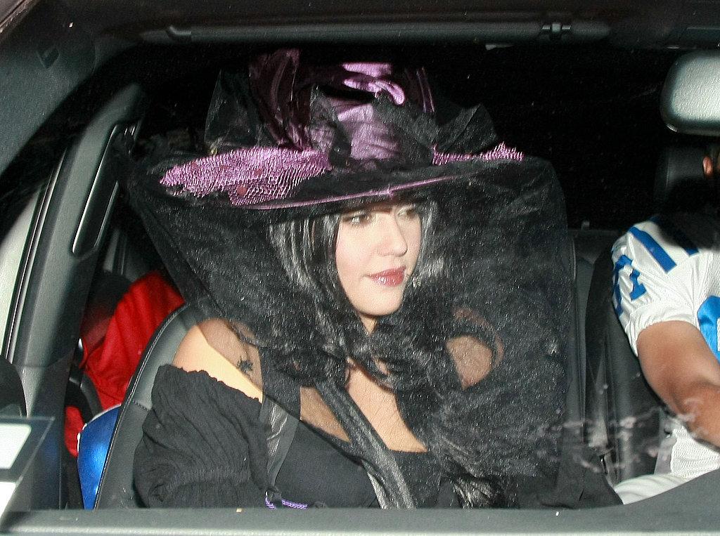 Jessica Alba got festive in a witch's costume in 2011.