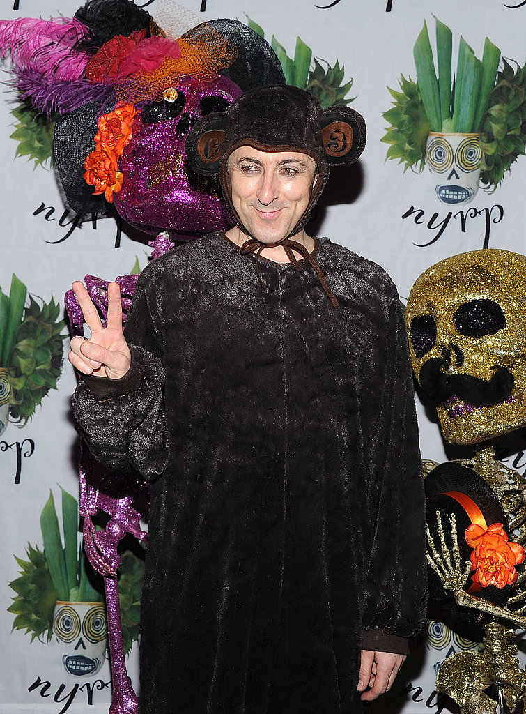Alan Cumming went as a monkey to a 2011 Halloween party in NYC.