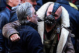 Tom Hardy as Bane on the set of The Dark Knight Rises.