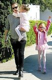 Jennifer Garner spent her Saturday with daughters Violet and Seraphina.