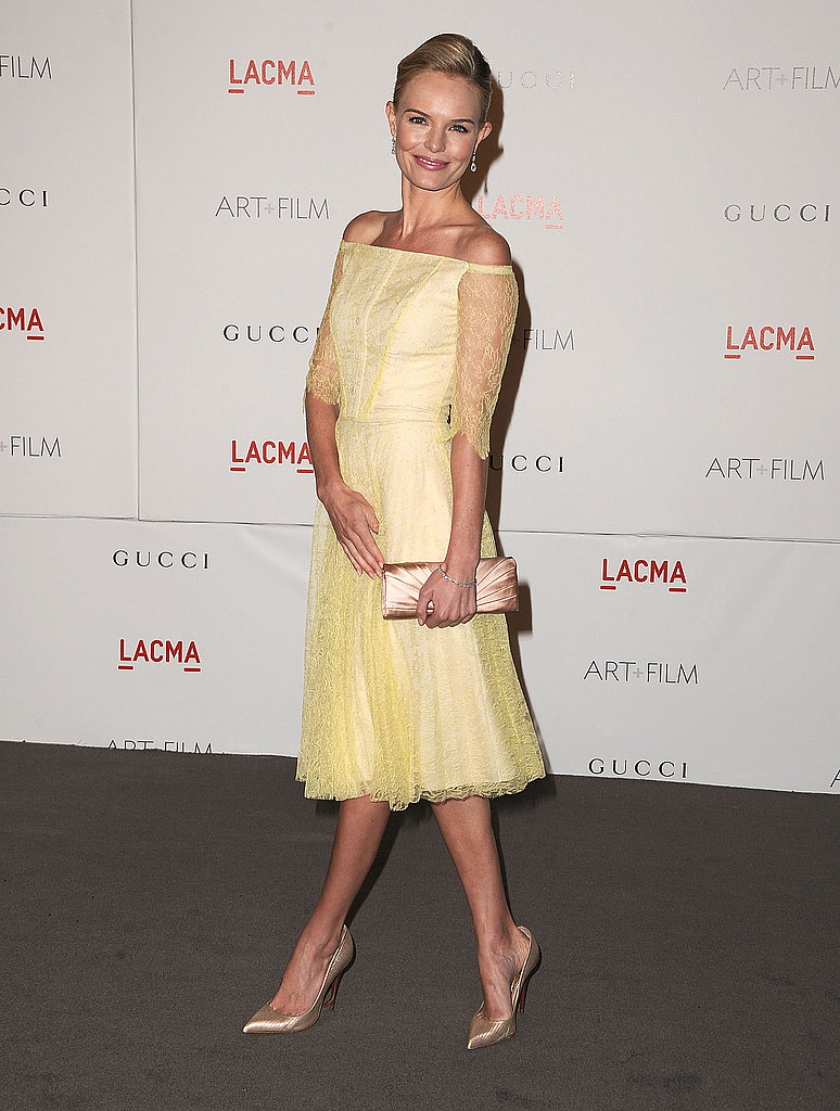 Kate Bosworth in yellow Erdem.