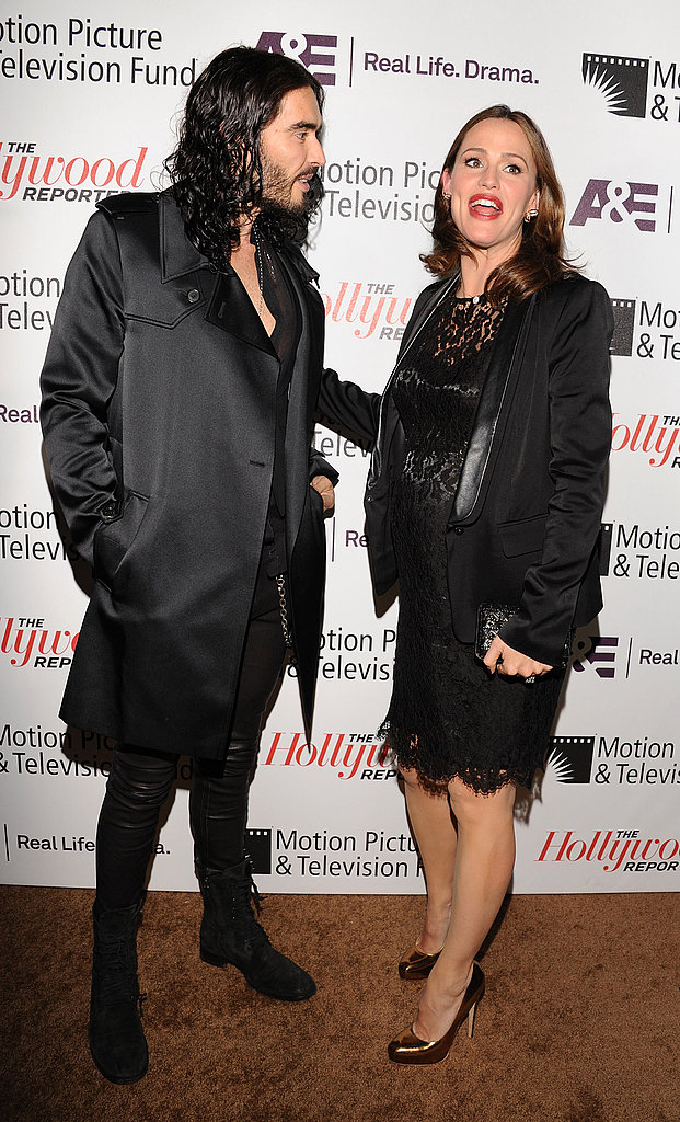 "Russell Brand and his Arthur costar Jennifer Garner at the Motion Picture & Television Fund's ""Reel Stories, Real Lives"" in Hollywood."
