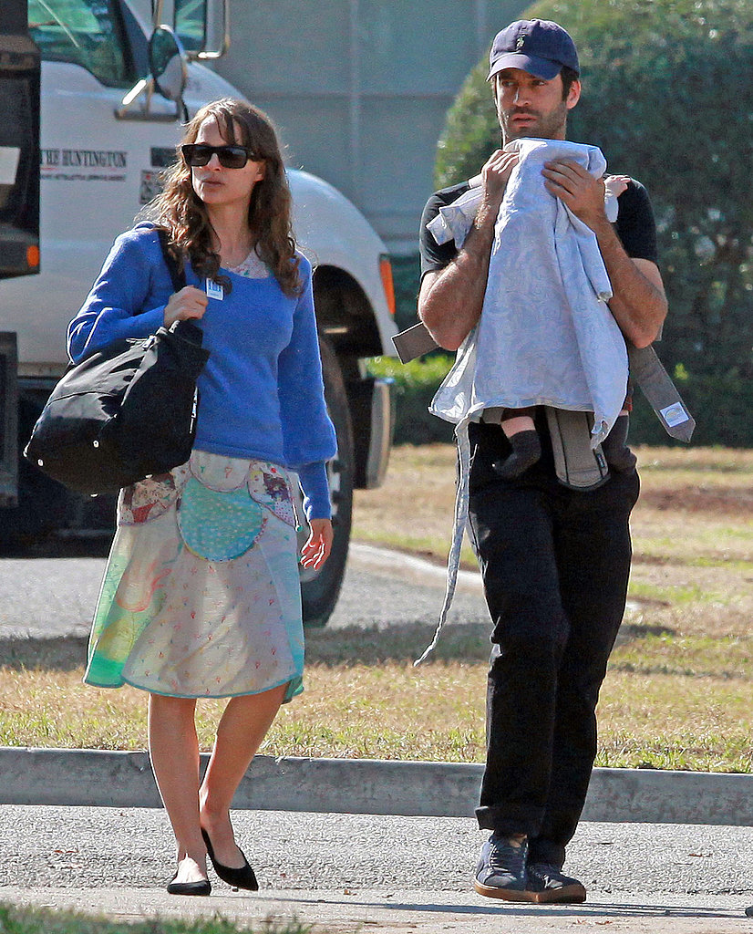 Natalie Portman and Benjamin Millepied enjoyed a day with son Aleph Millepied.