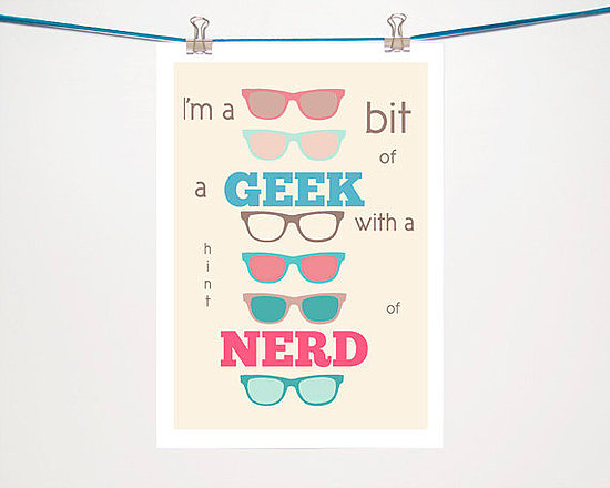 Nerd or Geek Typography Illustration