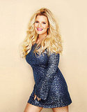 Jessica Simpson in a sequined dress for Lucky Magazine.