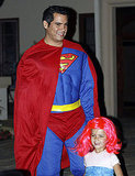 Cash Warren and Honor in Halloween costumes.