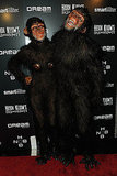 Heidi Klum and Seal dressed as apes at her annual Halloween party.