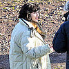 Scarlett Johansson on Set Pictures in Scotland
