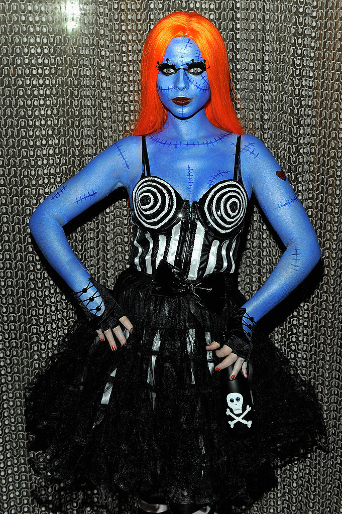 Michelle Trachtenberg in her Halloween costume.
