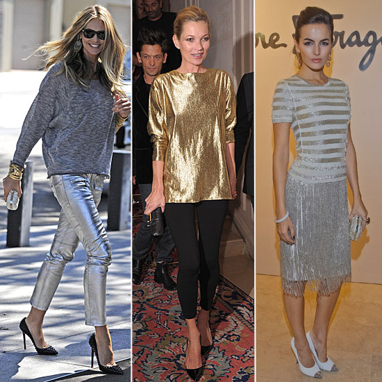 Celebrity Lookbook: Slick, Sparkly Metallics