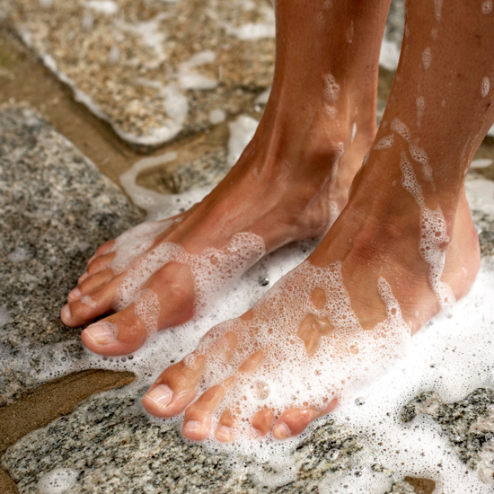 Go Barefoot in the Shower