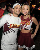Entourage's Jerry Ferrara and girlfriend Alexandra Blodgett are ready to P-A-R-T-Y as cheerleaders.