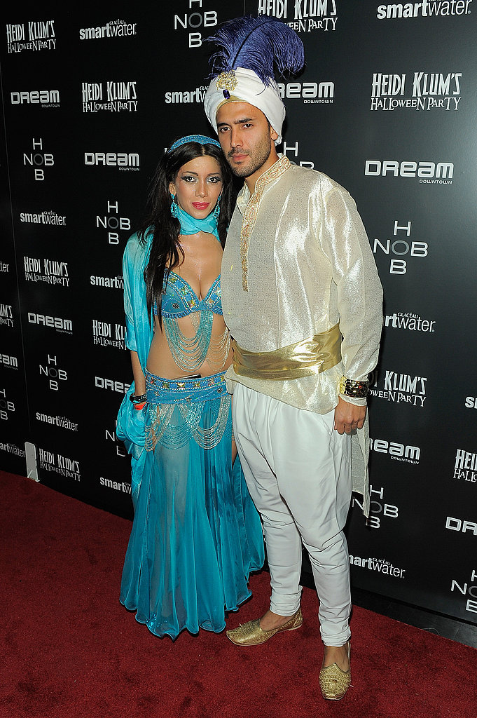 Project Runway's sixth season winner Irina Shabayeva and her significant other were perfect as Disney prince and princess Aladdin and Jasmine. Do you think she made their costumes?