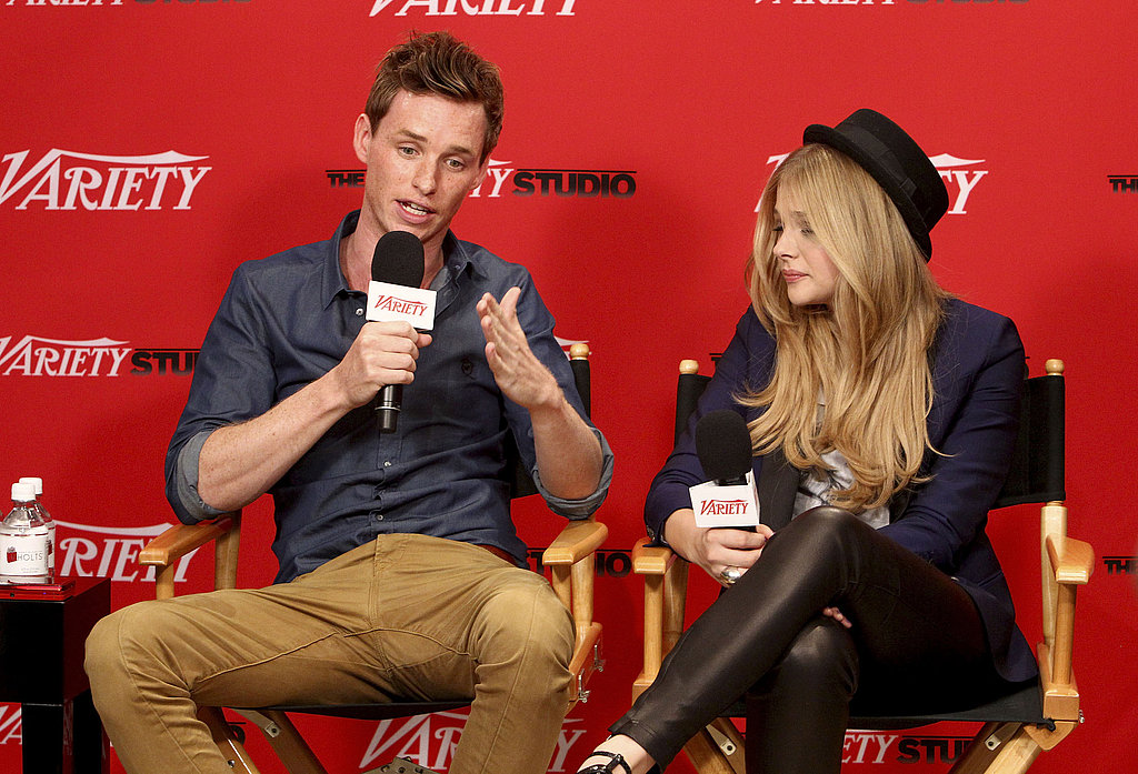 Eddie made himself comfortable with Hick costar Chloë Moretz.