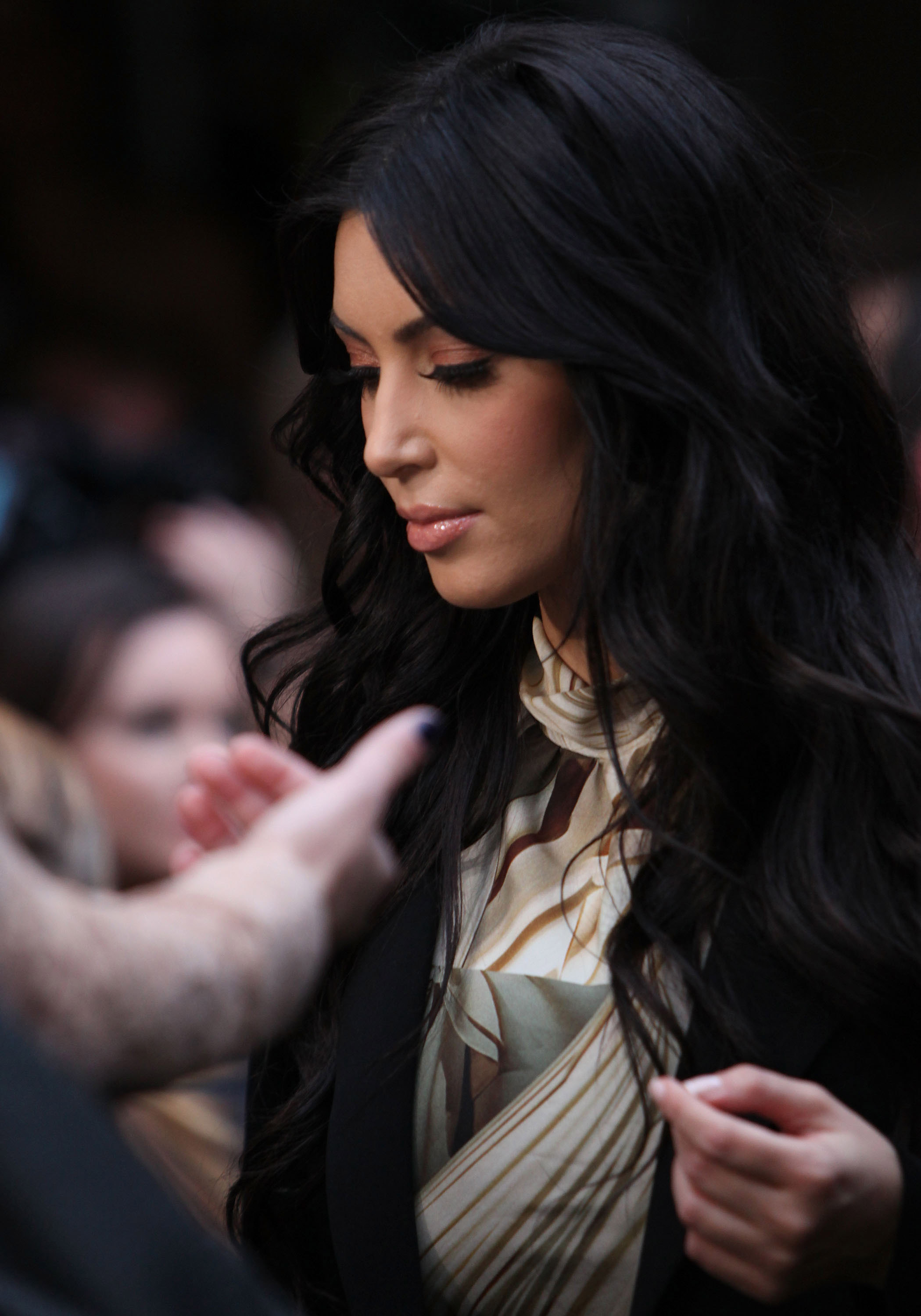 Kim Kardashian waited to walk into her event in Sydney.