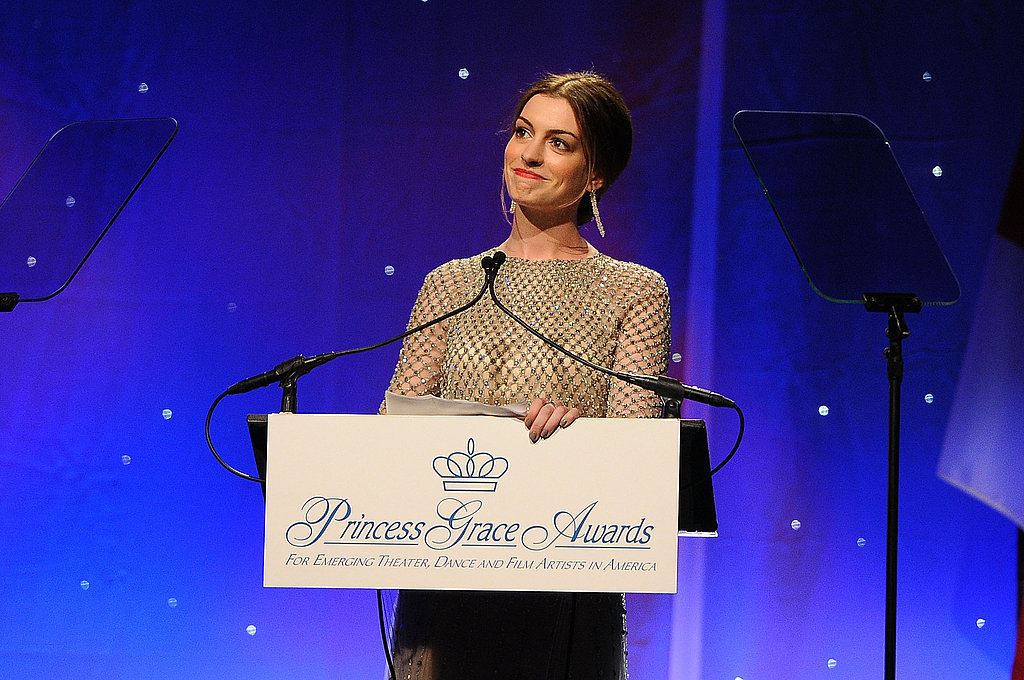 Anne Hathaway spoke at the 2011 Princess Awards Gala.